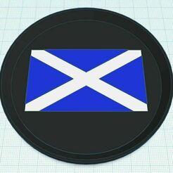 ScotlandCoaster.JPG Télécharger fichier STL gratuit Dessous de verre du drapeau écossais Tri Color • Objet pour imprimante 3D, jcagle0810