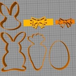 todos - copia (2).jpg Télécharger fichier STL l'emporte-pièce lapin de Pâques • Plan pour impression 3D, alexclavijo97