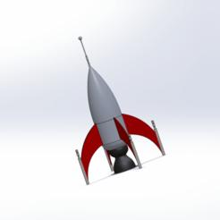 Download OBJ file Space Age Rocket Ship • 3D printing object, nilemmer