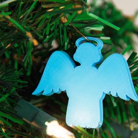 Download free 3D printer designs AngelOrnament, Digitang3D