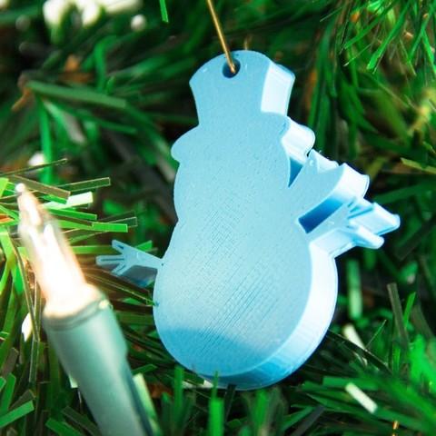 Download free 3D printer designs SnowmanOrnament, Digitang3D