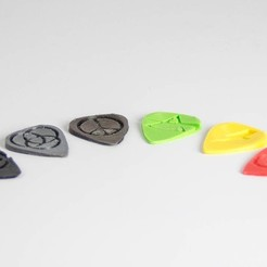 Descargar archivo 3D gratis GuitarPicks(parte 2), Digitang3D