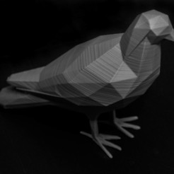 Download free 3D print files LowPolyPigeon, Digitang3D