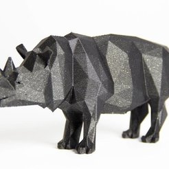 Download free 3D print files LowPolyRhino, Digitang3D