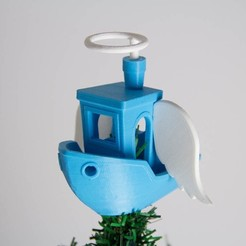 Free 3D printer model AngelBenchyTreeTopper, Digitang3D