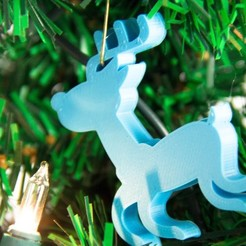 Free 3D printer model ReindeerOrnament, Digitang3D