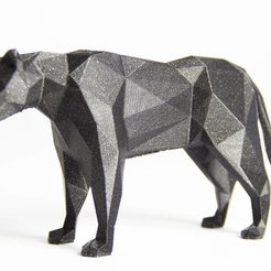 Download free 3D print files LowPolyPanther, Digitang3D
