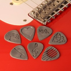 STL gratuit GuitarPicks, Digitang3D
