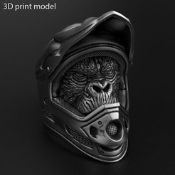 Biker_monkey_vol2_ring_K1.jpg Download STL file Biker monkey vol2 Ring jewelry • 3D printing object, AS_3d_art
