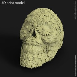 3D print model Skull leaf vol1 ring, anshu3dartist