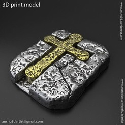 Jesus_cross_vol3_pendant_K1.jpg Download STL file Jesus cross vol3 Pendant • Template to 3D print, AS_3d_art