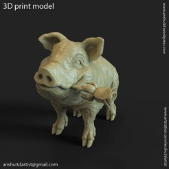 Download 3D print files Pig vol1 miniature figure, AS_3d_art