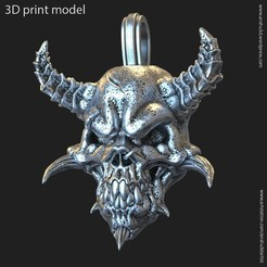 Download 3D model Demon skull vol1 pendant, AS_3d_art