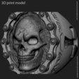 Descargar STL Anillo vol2 cráneo de motociclista, anshu3dartist