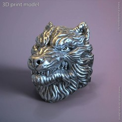 Download 3D print files wolf vol1 ring, AS_3d_art