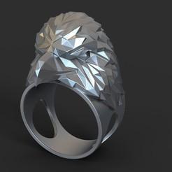 Eagle_vol3_ring_k1(2).jpg Download STL file Eagle vol3 polygonal ring • 3D print object, AS_3d_art