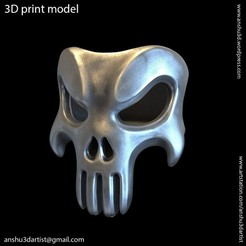 Download 3D printer files The Punisher skull vol1 ring, AS_3d_art
