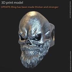 SB_vol3_K1.jpg Télécharger fichier STL crâne avec anneau de barbe vol3 • Objet pour imprimante 3D, AS_3d_art
