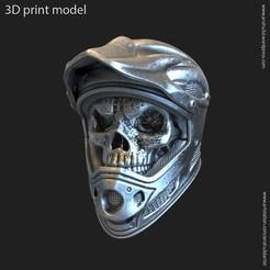 Download 3D printer designs biker helmet skull vol5 ring, AS_3d_art