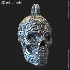 Svol12_p_k2.jpg Download STL file Biker Skull vol12 pendant • Template to 3D print, AS_3d_art