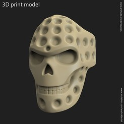 STL files Biker skull vol16 ring, anshu3dartist
