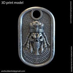 ES_vol1_Pendant_K1.jpg Download STL file Egyptian skull vol1 Pendant • Model to 3D print, AS_3d_art