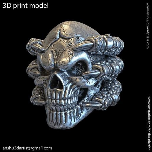 Descargar modelo 3D cráneo con garras vol1 Colgante, AS_3d_art