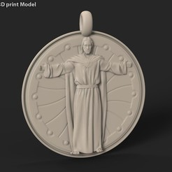 Download 3D printer files Jesus Christ vol3 Medallion pendant, AS_3d_art