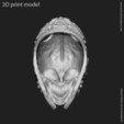 3D print model warrior skull vol1 pendant, anshu3dartist