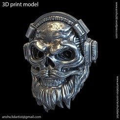 Descargar modelo 3D Cráneo con anillo vol1 para auriculares, AS_3d_art