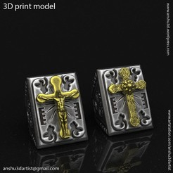 Jesus_cross_vol2_ring_K1.jpg Download STL file Jesus cross vol2 ring • 3D printer template, AS_3d_art