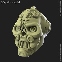 STL file Robotic skull vol1 pendant, anshu3dartist