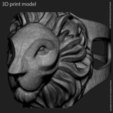 3D print model Lion vol2 ring, anshu3dartist