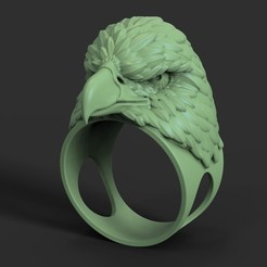 STL file Eagle vol2 ring, anshu3dartist