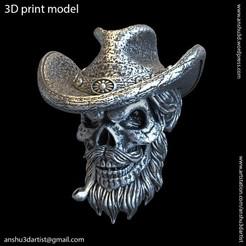 Download 3D printer designs Skull gangster vol4 pendant, AS_3d_art