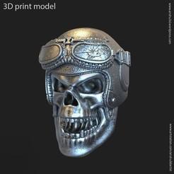 Download 3D printing templates Biker helmet skull vol4 pendant, AS_3d_art