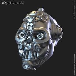 Download 3D printing designs Robotic skull vol1 pendant, anshu3dartist