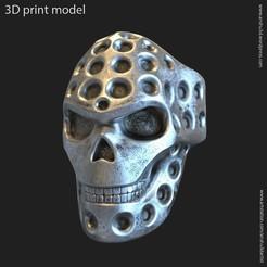 Télécharger objet 3D Crâne de motard vol16 anneau, AS_3d_art