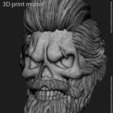 Download 3D print files Skull beared vol1 Pendant, anshu3dartist