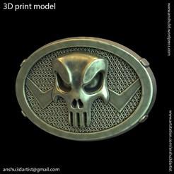 The_punisher_vol1_buckle_K1.jpg Download STL file The punisher skull vol1 belt buckle • 3D printer model, AS_3d_art