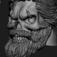 Download 3D printer files Skull beared vol1 ring, anshu3dartist