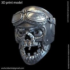Descargar archivos 3D casco de motociclista craneo vol1 ring, AS_3d_art