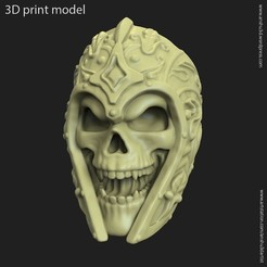 STL Ancient Warrior skull vol1 ring, anshu3dartist