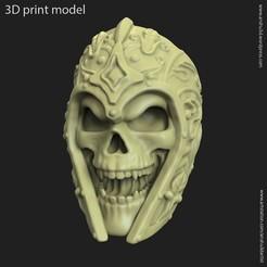 Download 3D printer designs Ancient Warrior skull vol1 ring, anshu3dartist
