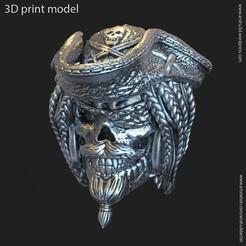 PS_vol2_P_k2.jpg Download STL file Pirate skull vol2 Pendant • 3D print design, AS_3d_art