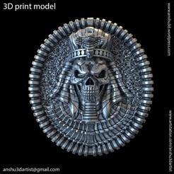 Egyptian_skull_vol1_K1.jpg Download STL file Egyptian skull vol1 Ring • 3D print template, AS_3d_art