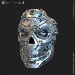 Download 3D printer model robotic skull vol 2 ring, AS_3d_art