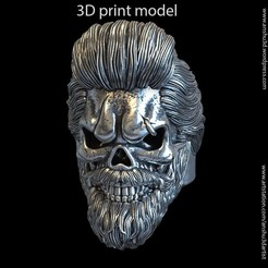 Skull_beared_vol1_K1(1).jpg Download STL file Skull beared vol1 ring • 3D printable design, AS_3d_art