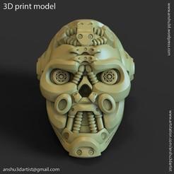 Mech_robotic_skull_vol1_PH_K1(1).jpg Download STL file Mech robotic skull Pen holder • 3D printing design, AS_3d_art