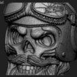 Download STL Skull biker helmet vol1 ring, anshu3dartist